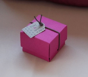 Square box for wedding favours