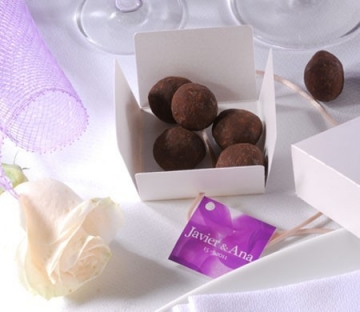 Cajita para trufas de chocolate