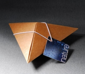 Little pyramidal box for small company gifts