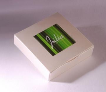 Square gift box for USB stick