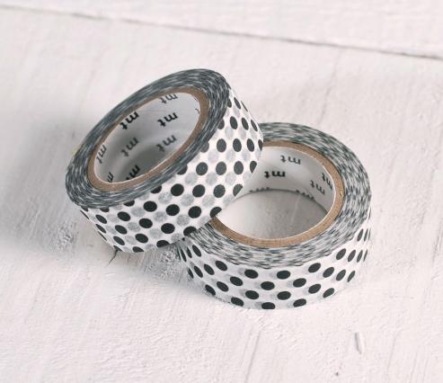 White Washi Tape - Polka Dots