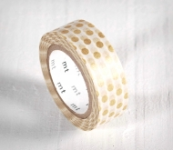White Washi Tape - Polka Dots