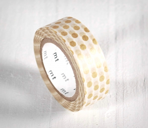 Washi tape topos oro