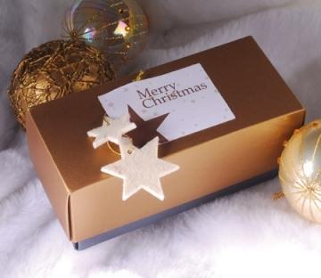 Cajita rectangular para Navidad