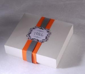 Caja cuadrada invitaciones de boda