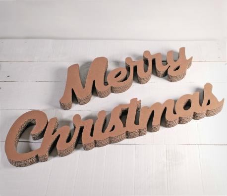 Letras de cartón Merry Christmas