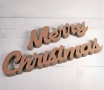 Cardboard letters Merry Christmas