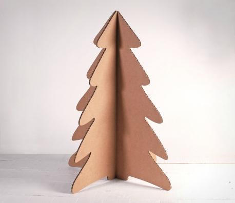Árbol de Navidad de cartón grande
