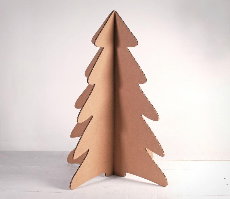 Cardboard Christmas Tree.Cardboard Christmas Tree Selfpackaging
