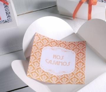 Invitación de boda hecha a mano