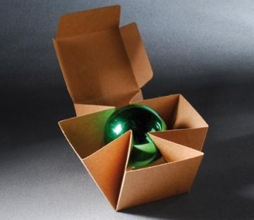 Caja automontable para regalos de Navidad