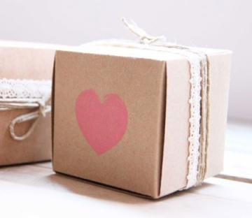 Schachtel für kleine Hochzeitsgeschenke