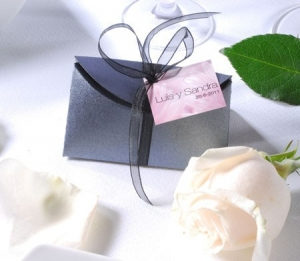 Silver box for wedding favours