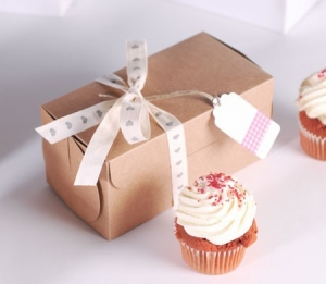 Rectangular box for two cupcakes
