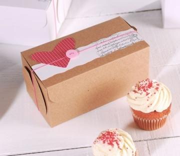 Dekoration für Cupcake-Box