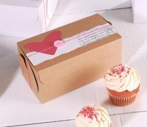 Decoración para caja de cupcakes