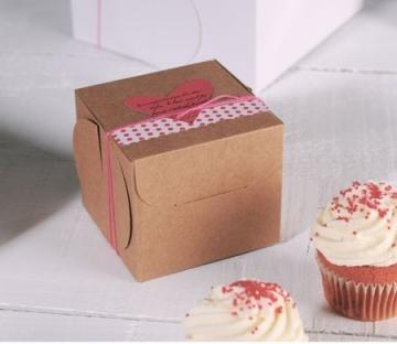 Dekorierte Schachtel für einen Cupcake