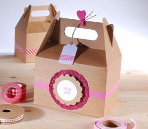 Picnic box in kraft colour