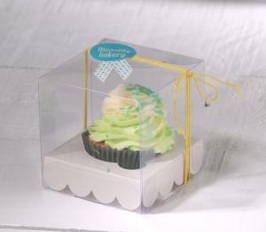 Cajita transparente para cupcake