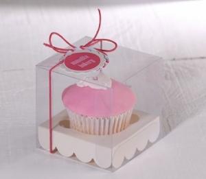 Caja para un cupcake bautizo