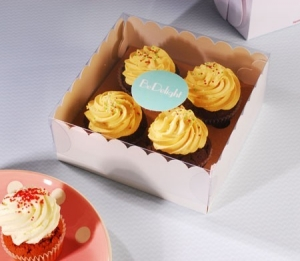 Box for 4 cupcakes for shops