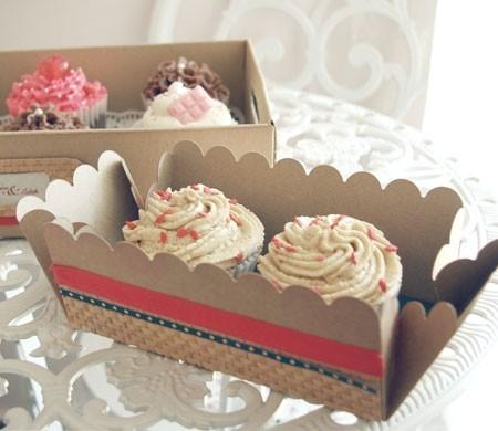 Cajita cupcakes decorada con washi tape