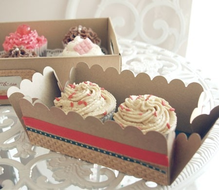 Box For 40 Cupcakes Decorated With Washi Tape SelfPackaging Fascinating Decorative Cupcake Boxes
