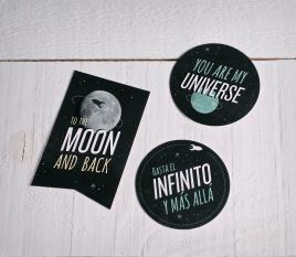 """Adesivi per i regali """"Universo"""""""