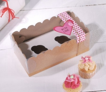 Caja para dos mini cupcakes
