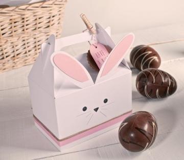 Scatola per realizzare un coniglio in cartone