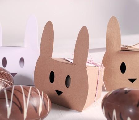 Caja conejo con baker's twine