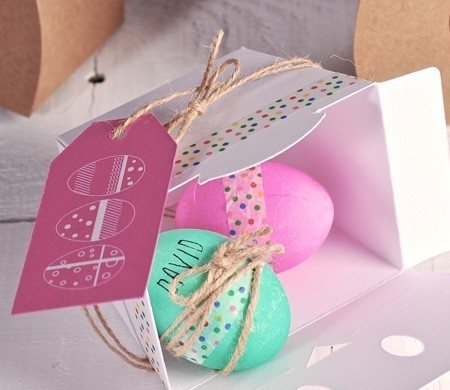 Scatola per uova di pasqua decorate selfpackaging - Uova decorate per pasqua ...