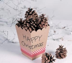 Scatola natalizia per decorazioni