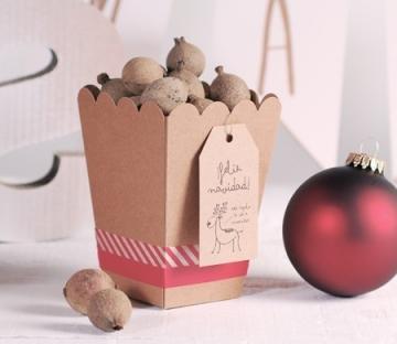 Caja navideña original para regalo