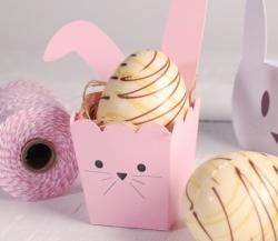 Popcorn box with rabbit ears