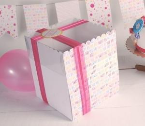 Scatola alta stampata per torte