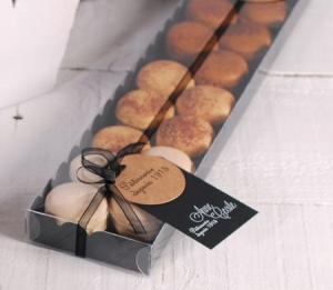 Caja alargada para macarons