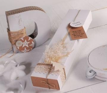 Caja elegante para obsequios navideños