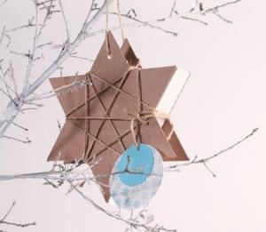 Caja navideña con forma de estrella
