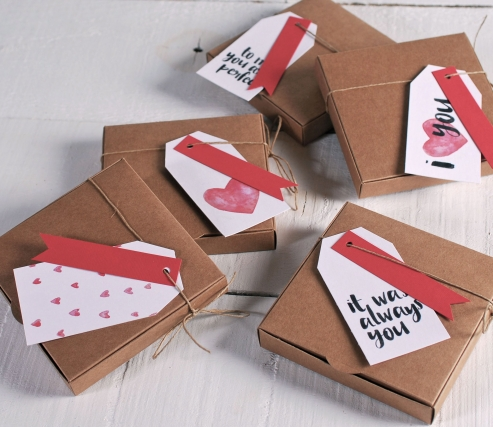 Caja decorada para San Valentín