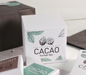 Scatola stampata quadrata per il tè