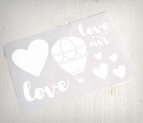 "Vinile decorativo ""Love is in the air"""