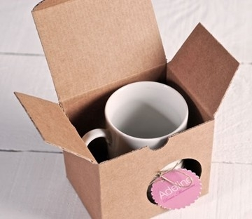 Cardboard box for mugs