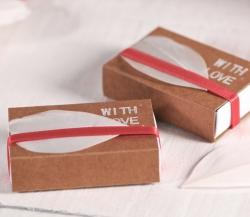 Caja de cerillas decorada para regalo