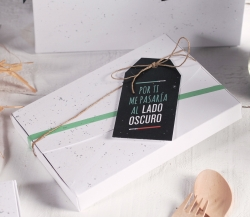 Photograph box with galactic decoration