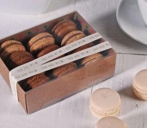 Caja cuadrada para macarons