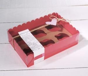 Caja para seis cupcakes