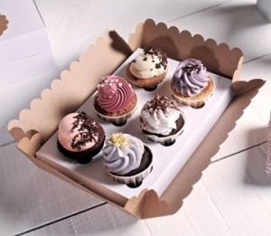 Caja de cartón para 6 cupcakes