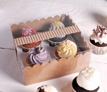 Caja para 4 cupcakes