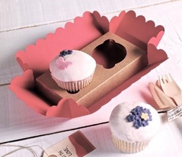 Cajita para 2 cupcakes